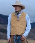 Buffalo Leather Vest - Wyoming Traders - Mens